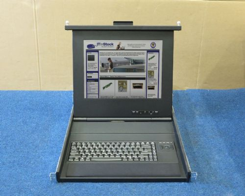 "EMC 15"" Rackmount LCD TFT Screen Monitor And Keyboard With Trackball 091-000-091"